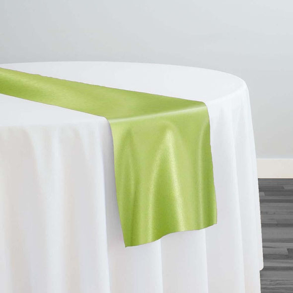 Lamour (Dull) Satin Table Runner in Lime 1296