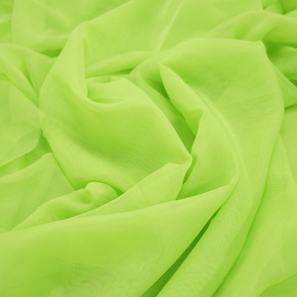 Voile Wholesale Fabric in Lime 1725