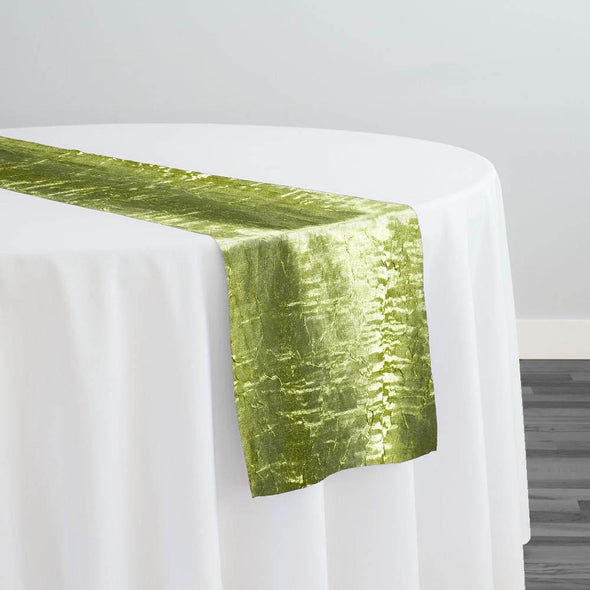 Crush Shimmer (Galaxy) Table Runner in Lime 26