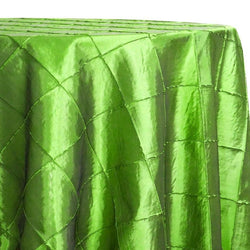 "4"" Pintuck Taffeta Table Linen in Green"