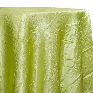 Crush Satin (Bichon) Table Linen in Lime 37