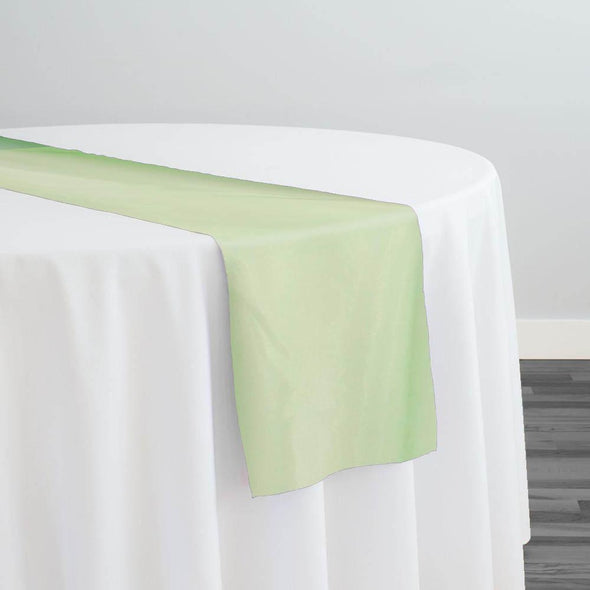 Crystal Organza Table Runner in Lime 994
