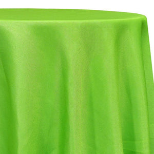 Imitation Burlap (100% Polyester) Table Linen in Lime