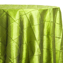 "4"" Pintuck Taffeta Table Linen in Lime 102"