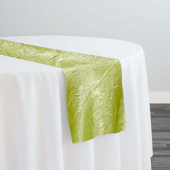 Crush Satin (Bichon) Table Runner in Lime 37