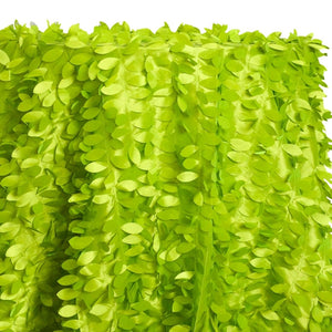 Leaf Hanging Taffeta Table Linen in Lime