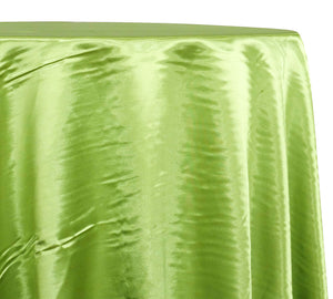 Shantung Satin (Reversible) Table Linen in Lime