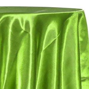 Bridal Satin Table Linen in Lime Green 38