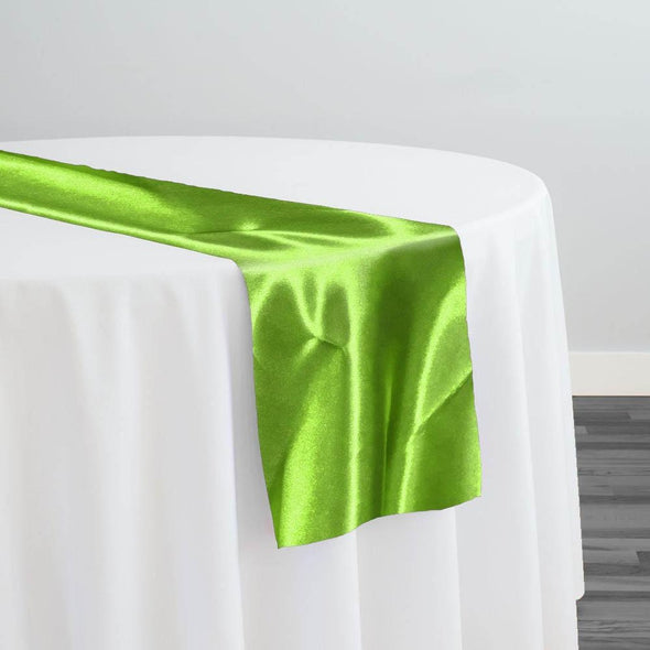 Bridal Satin Table Runner in Lime Green 38