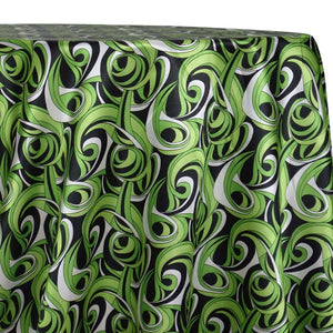 Abstract (Pucci) Table Linen in Limey