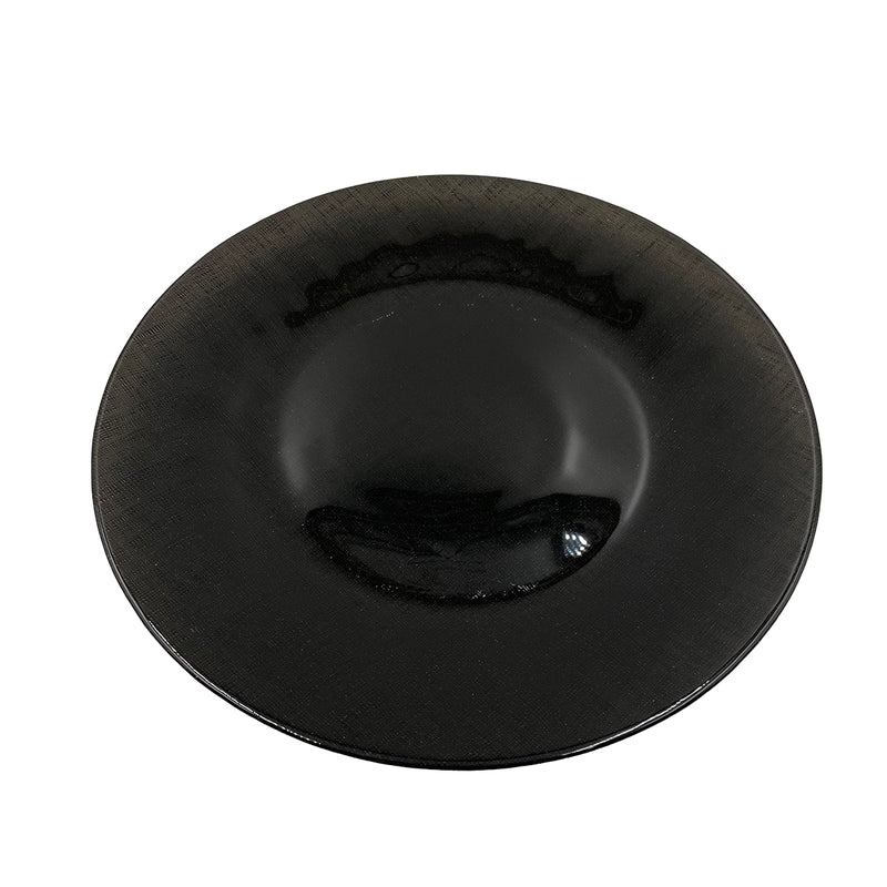 Linen - Glass Charger Plate in Black