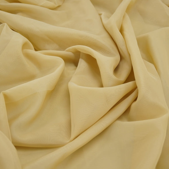 Voile Wholesale Fabric in Lt Gold 1890