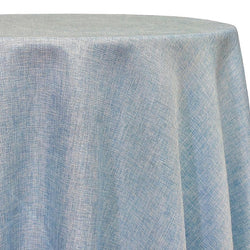 Imitation Burlap (100% Polyester) Table Linen in LT Blue