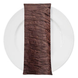 Accordion Taffeta Table Napkin in Light Brown