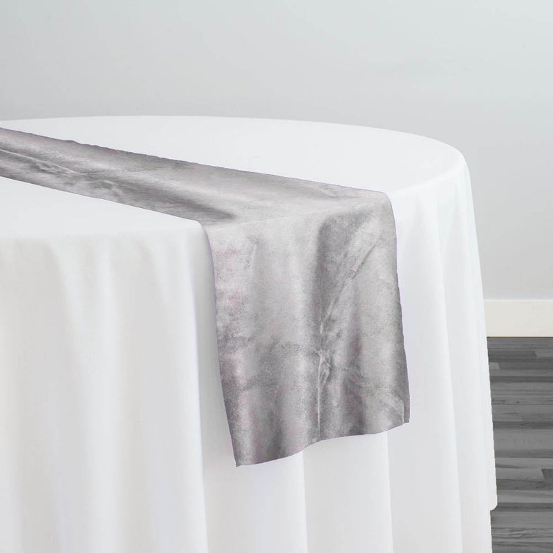 Microfiber Suede Table Runner in Lt Grey