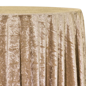 Panne (Crush) Velvet Table Linen in Lt Gold