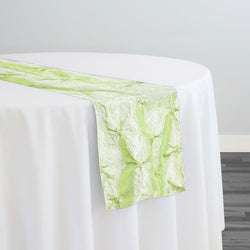 Belly Button (Pinwheel) Table Runner in Lt Sage