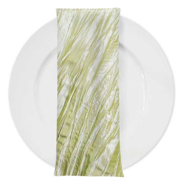 Accordion Taffeta Table Napkin in Lt Sage