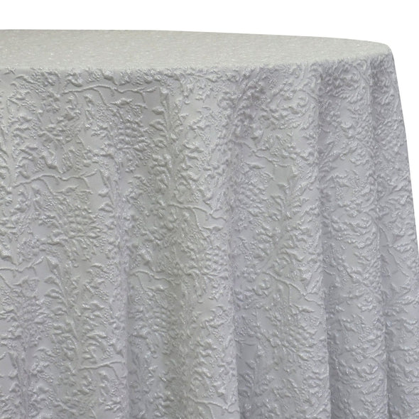 Lucia Jacquard Table Linen in White