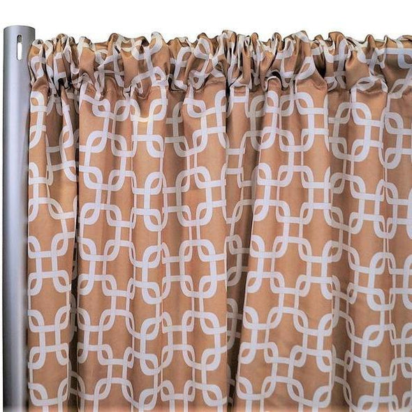 "Lynx Print (Lamour) Drapery Panels (58"" Wide) / 14 Colors"