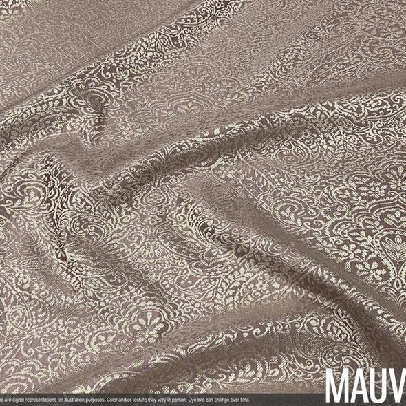 "Miramar Jacquard Drapery Panels (110"" Wide) / 4 Colors"