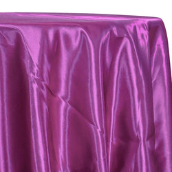 Bridal Satin Table Linen in Magenta 592