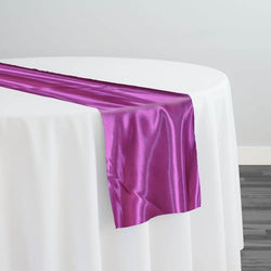 Bridal Satin Table Runner in Magenta 592