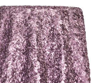 Curly Satin Table Linen In Mauve