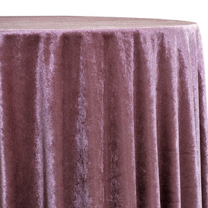 Lush Velvet Table Linen in Mauve