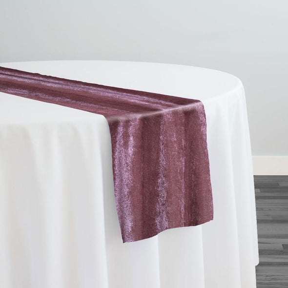 Lush Velvet Table Runner in Mauve