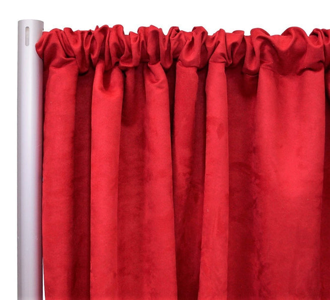 "1pcs - Microfiber Suede - 8' Tall + 4"" Pocket - Red"