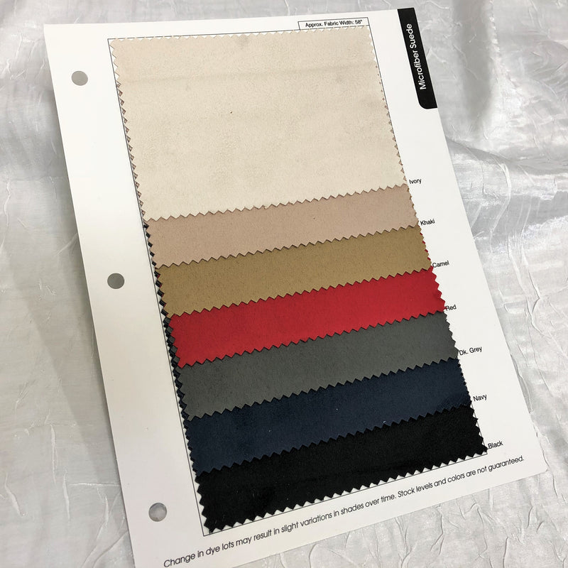 Microfiber Suede Color Card