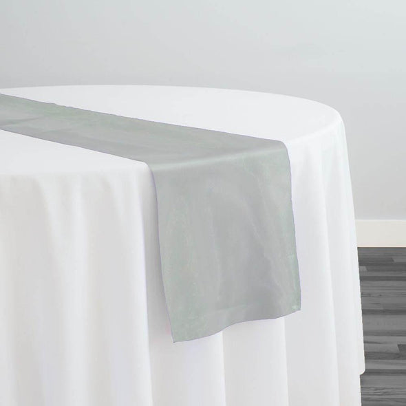 Crystal Organza Table Runner in Mint 600