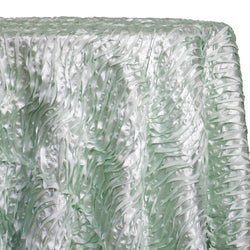 Austrian Wave Satin Table Linen in Mint