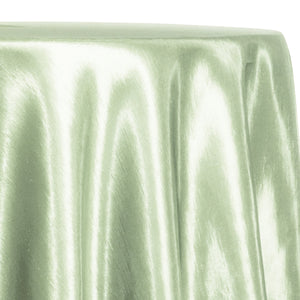 Shantung Satin (Reversible) Table Linen in Mint