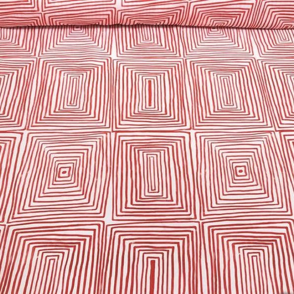 Modena (Poly Print) Table Linen in Red