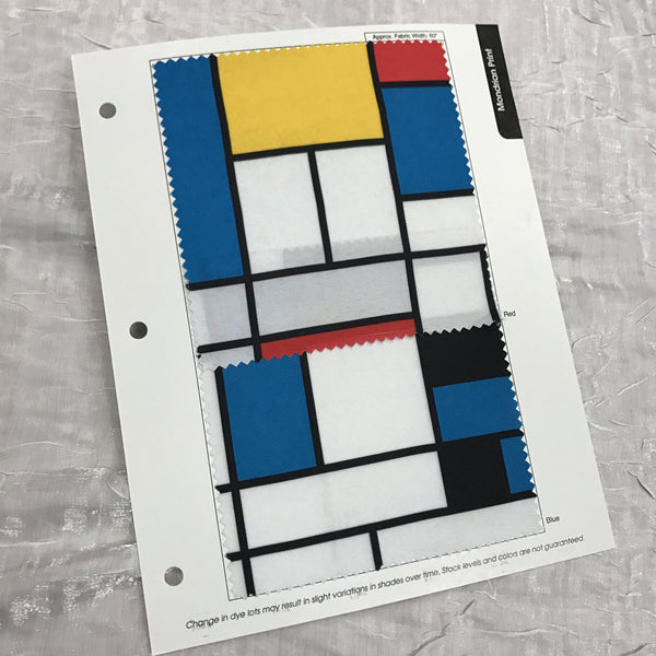 Mondrian Print Color Card