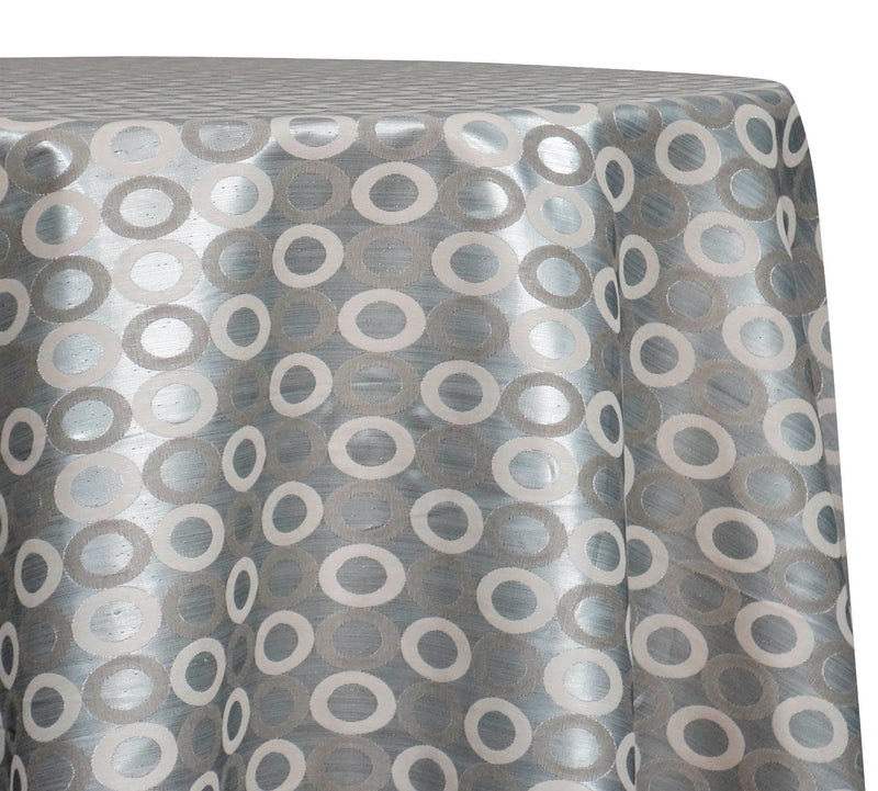 Mosaic Jacquard (Reversible) Table Linen in Ivory and Silver