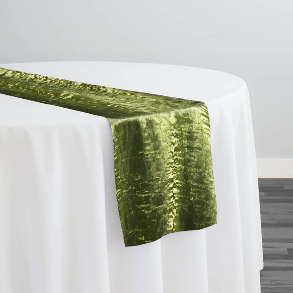 Crush Shimmer (Galaxy) Table Runner in Moss 15