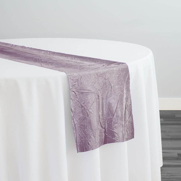 Crush Satin (Bichon) Table Runner in Mauve 055