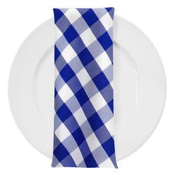 Polyester Checker (Gingham) Table Napkin in Navy