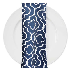 Gatsby Print (Lamour) Table Napkin in Navy