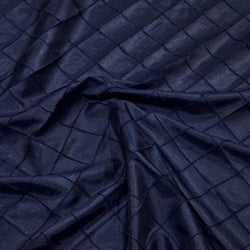 "2"" Pintuck Taffeta Table Linens in Navy 045"