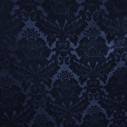 Damask Poly Table Linen in Navy 1245