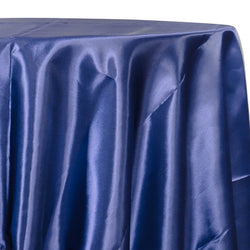 Bridal Satin Table Linen in Navy 245