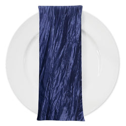 Accordion Taffeta Table Napkin in Navy