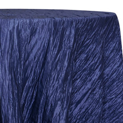 Accordion Taffeta Table Linen in Navy