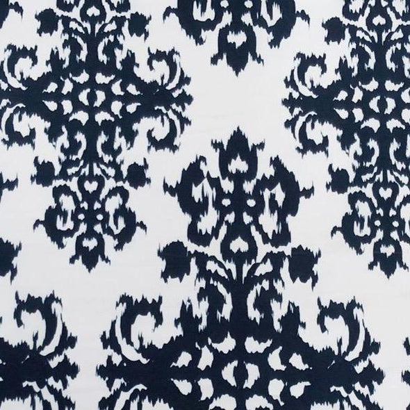 Newport Print (Dupioni) Table Runner in Navy