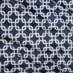 Lynx Print (Lamour) Table Linen in Navy