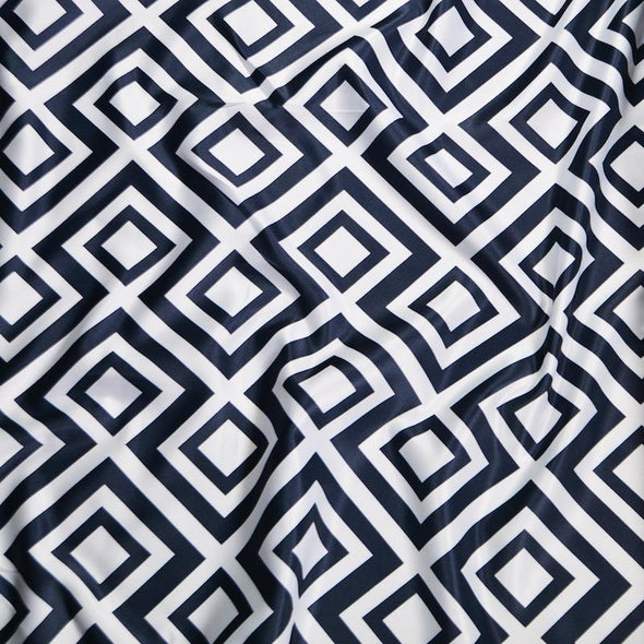 Paragon Print (Lamour) Wholesale Fabric in Navy